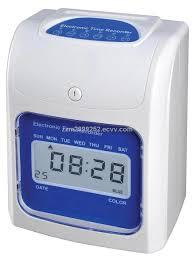 FULLY AUTO TIME CLOCK RECORDER MACHINE + 2 YEARS WARRANTY+ CARD & RACK