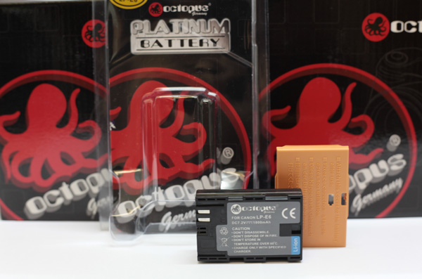 Fully Compatible Octopus LP-E6 Battery for Canon 7D 60D 5D Mark II mk