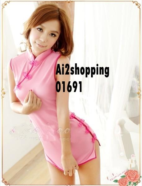 Fun role-playing back hollow qipao Lingerie+thong01691