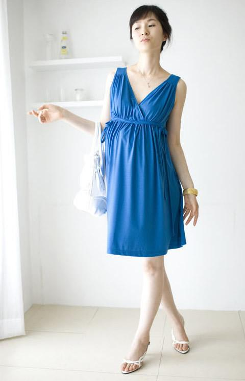 **Fundeal** V Neck Cross Front Nursing Dress