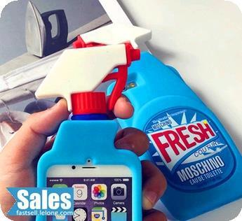 Funny Cute Creative Spray Cleaner Casing Case Cover iPhone 5