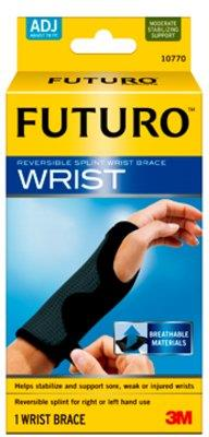 FUTURO Wrist Brace with Adjustable Reversible Splint X 2