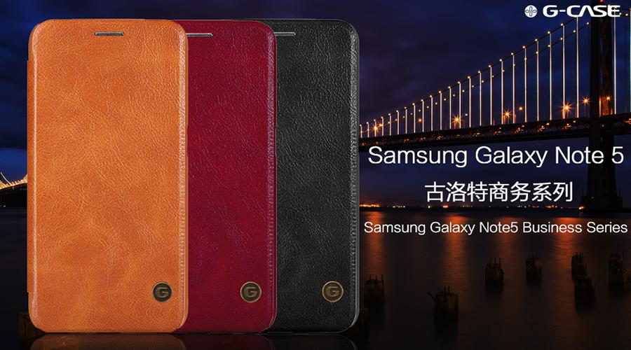 G-Case Samsung Galaxy Note 5 PU Leather Wallet Case Flip Cover