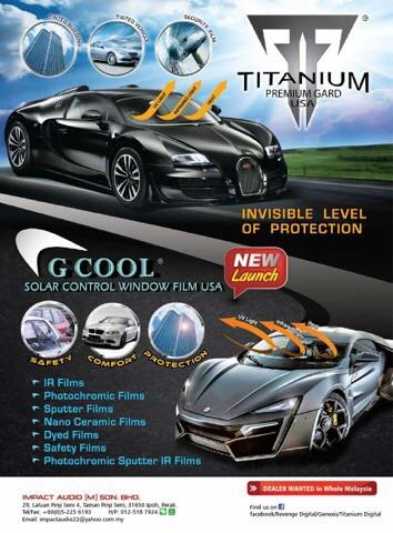 G Cool USA IR Forever Charcoal 35 TI car window tint film