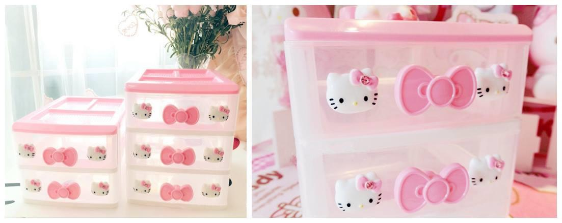 GA0075 HELLO KITTY 2 TIER CONTAINER