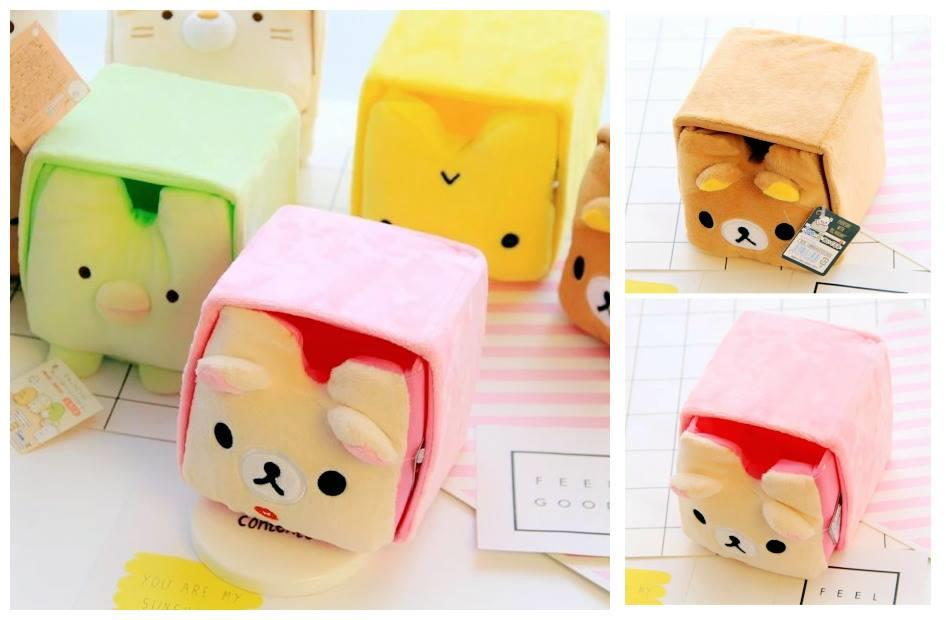 GA0080 RILAKKUMA SERIES PLUSH STORAGE BOX