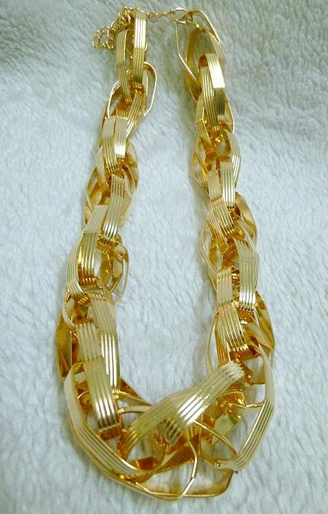 Gabby Gold Statement Necklace (Free Shipping)