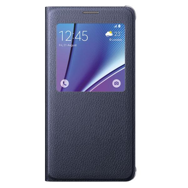 Galaxy Note5 S-View Flip Cover, Black Sapphire