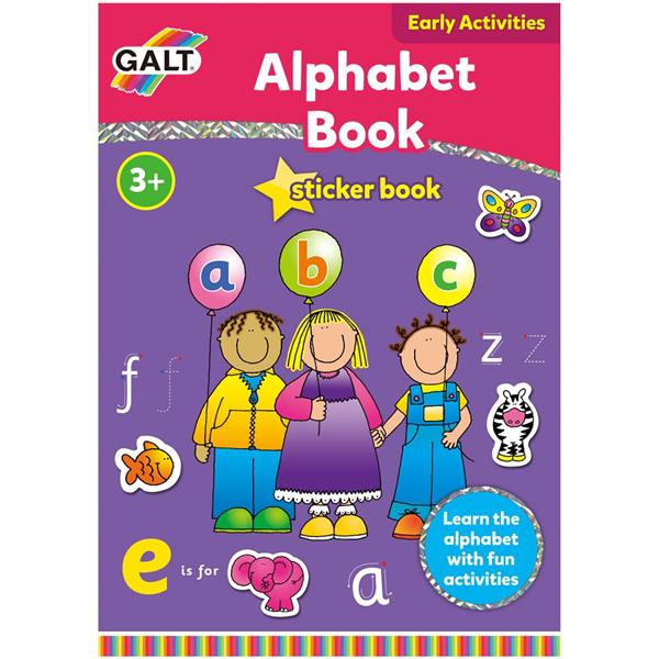 Galt Early Activities Sticker Book - Alphabet Book (3+ years)