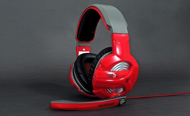 GAMDIAS WIRED HEBE (GHS2300) HEADSET - RED