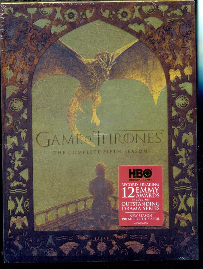 Game Of Thrones The Complete Fifth Season - New DVD