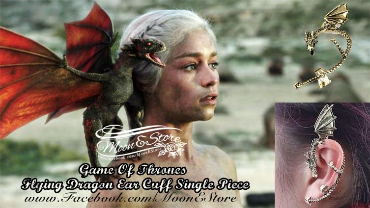 Game of thrones gothic dragon ear cuff single pie end 11 6 2015 7 15 00 pm - Game of thrones dragon ear cuff ...