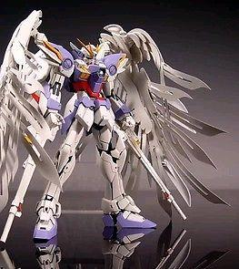 GaoGao Gundum MG 1/100 Wing Zero Custom with Feather Wing & Free Stand