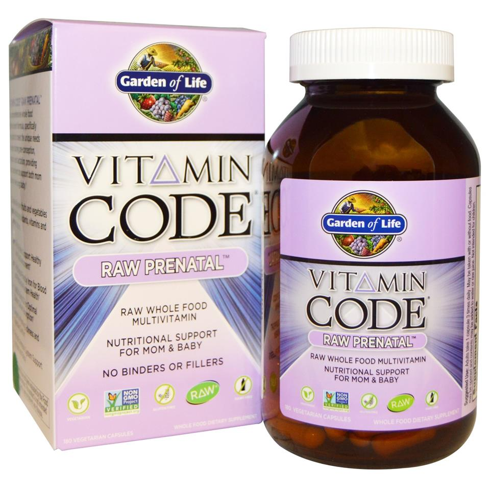 Garden of life vitamin code raw pre end 5 2 2017 4 15 pm for Garden of life prenatal vitamins