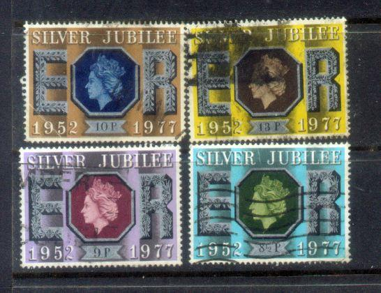 GB 4 Silver Jubliee Stamps