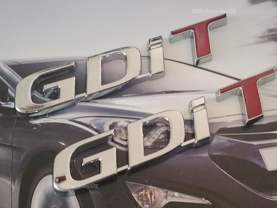 :  Gdi T Hq Chrome Metal Trunk Badge Emblem Logo Auto Fend 2 Pcs #FM-H