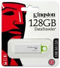 GDT. KINGSTON FLASH DRIVE USB3.0 DTI G4 128GB DTIG4/128GBFR GREEN