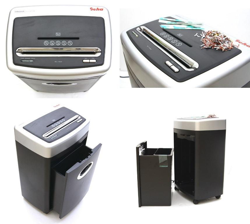 GEHA Office X7 CD Heavy Duty Paper Document CD DVD Shredder