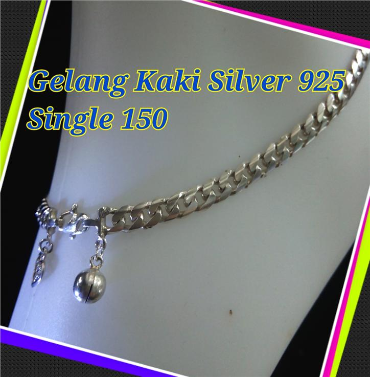 Gelang Kaki Silver 925-single 150