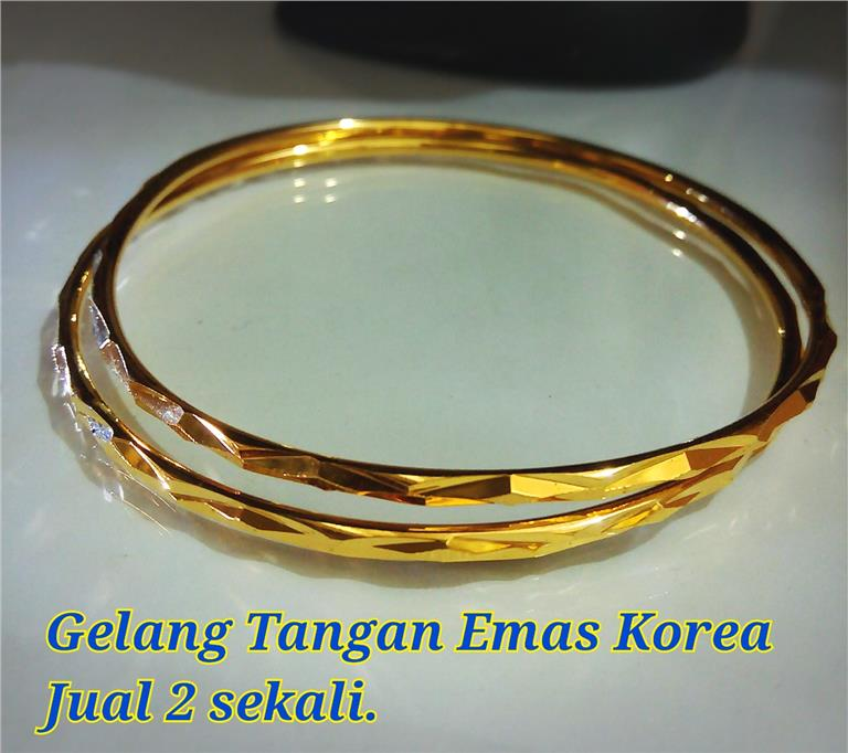 Gelang Tangan Emas Korea #10(2 pcs in one  pack)