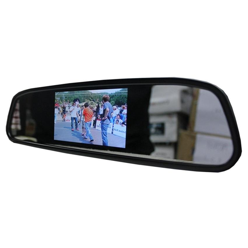 Generic Rearview Mirror With Built-in 4.3 Monitor for Reverse Camera