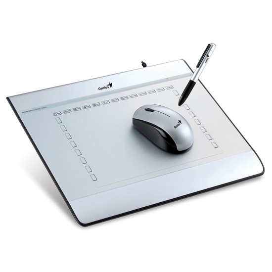 GENIUS 6'x8' GRAPHIC TABLET WITH CORDLESS MOUSE&PEN (MOUSEPEN i608X)