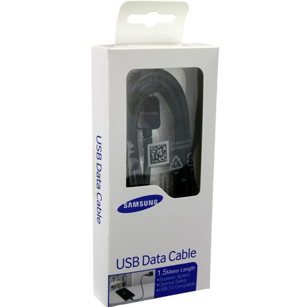 Genuine 1.5m USB 3.0 Data Cable Samsung Note 3 N9005 S5 G900F ~BLACK