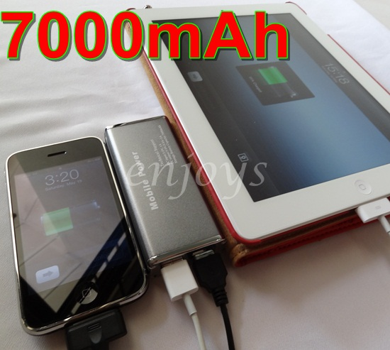 Genuine 7000 mAh VV Portable Battery Charger HTC One X V Evo 3D Desire