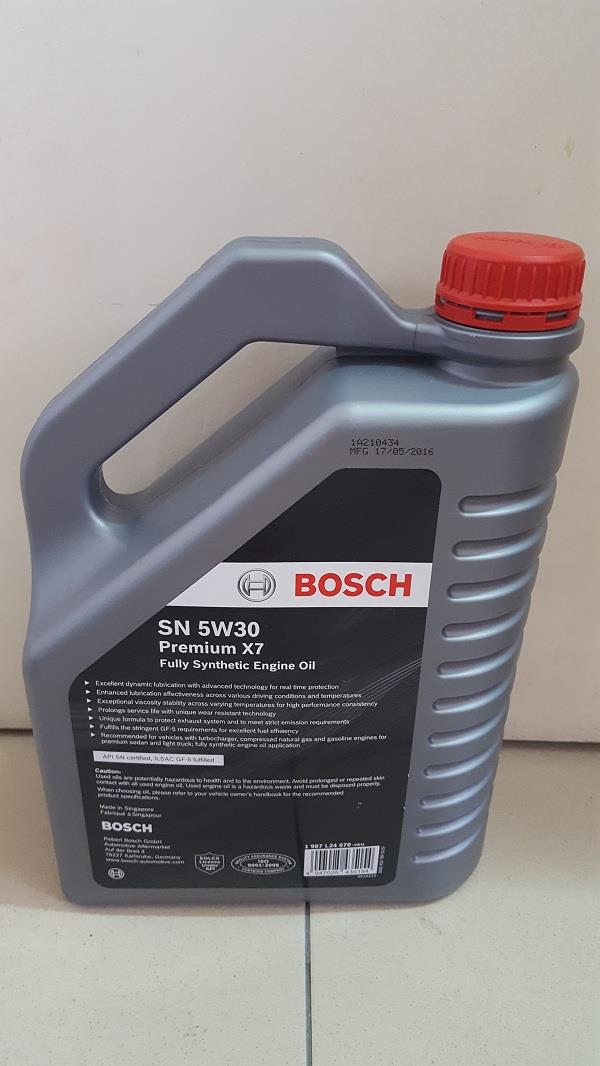 Genuine bosch engine oil sn 5w30 p end 10 17 2017 10 15 pm for 5w30 fully synthetic motor oil