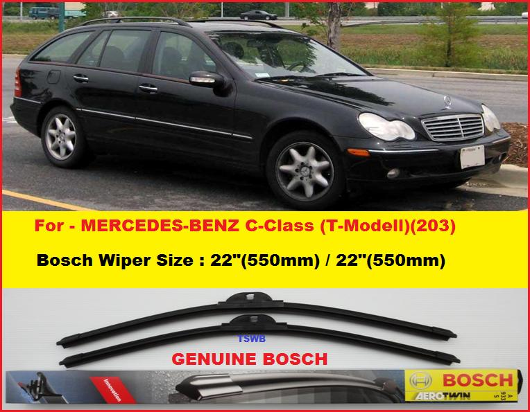 Genuine bosch for mercedes benz c class t modell 203 for Mercedes benz c300 wiper blades