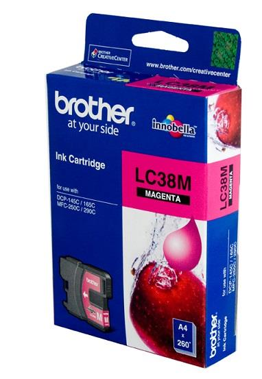 GENUINE BROTHER LC-38 MAGENTA INK CARTRIDGE DCP 145 165 250 295 LC38