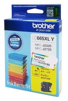 GENUINE BROTHER LC665XL YELLOW INK CARTRIDGE 2320 2720 LC 665 LC665