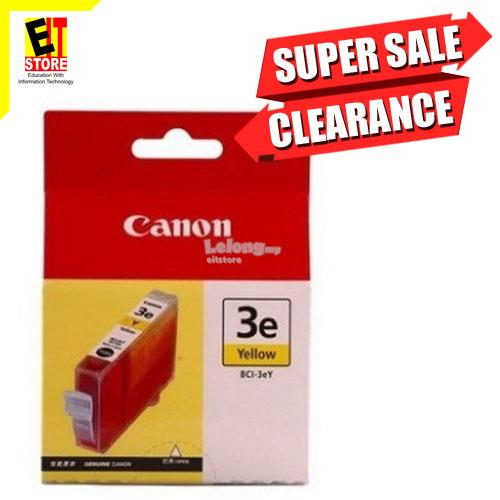 GENUINE CANON INK BCI-3eY-YELLOW FOR PIXMA SERIES