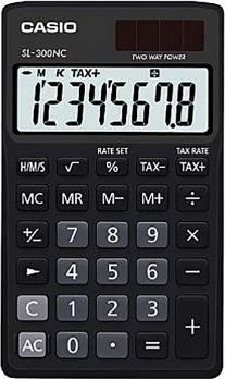 Genuine Casio Portable Calculator SL-300NC-BK Black 2 Way Power 8Digit