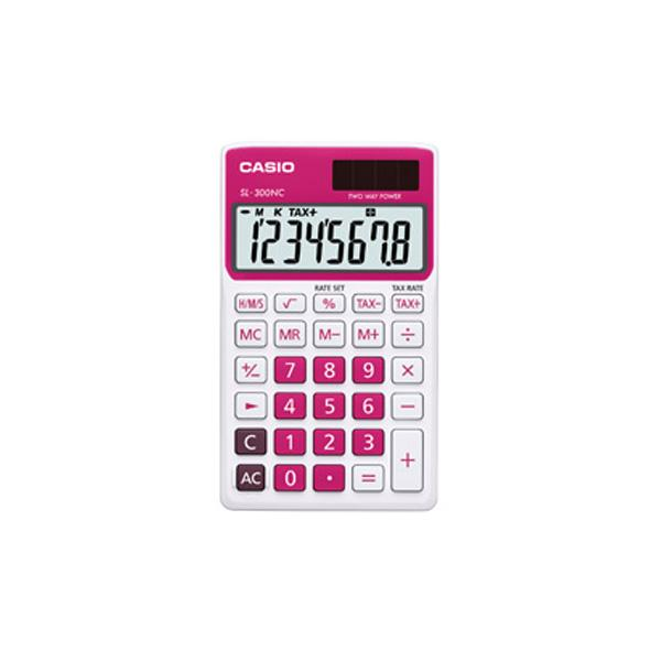 Genuine Casio Portable Calculator SL-300NC-RD Red 2 Way Power 8Digit