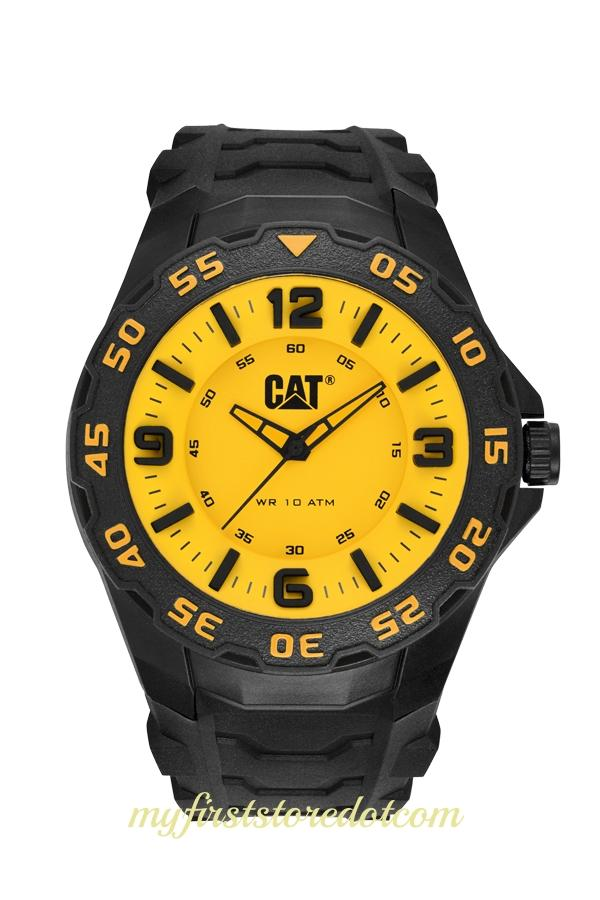 Genuine CAT Caterpillar Motion LB.111.21.731 Mens Watch Yellow / Black