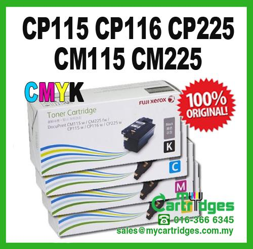 Genuine Fuji Xerox CP115/116/225 CYMK Set Colour Toner Cartridge