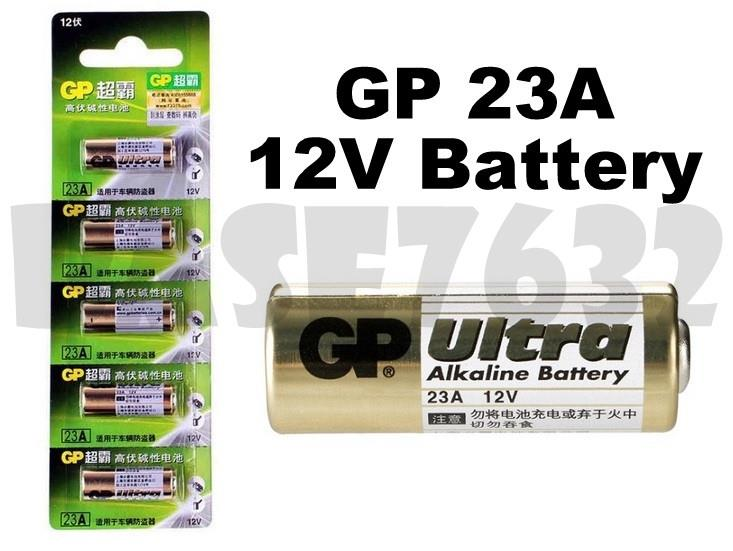 Genuine GP  23A 12V High-Volt Alkaline Battery 5 Units Per Card