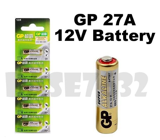 Genuine GP  27A 12V High-Volt Alkaline Battery 5 Units Per Card