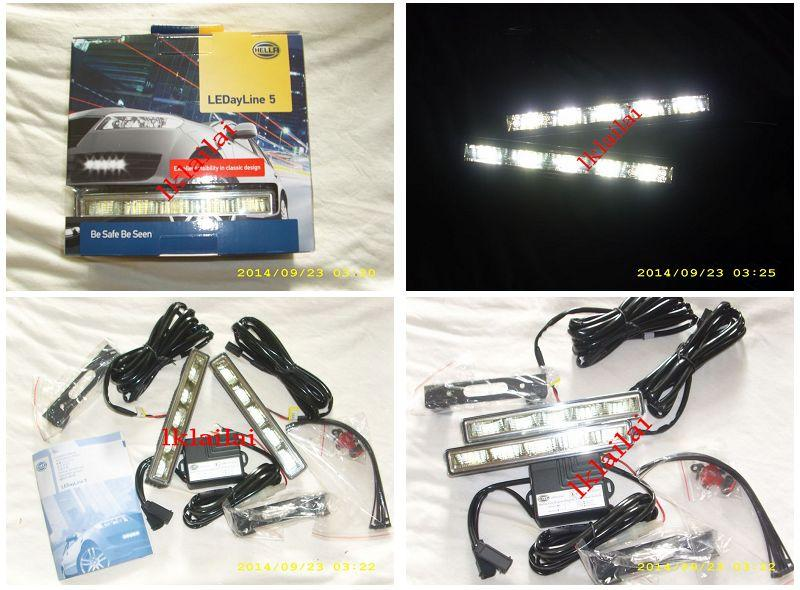 Genuine HELLA 5-LED Daytime Running Lights 12V DRL LED Complete Set