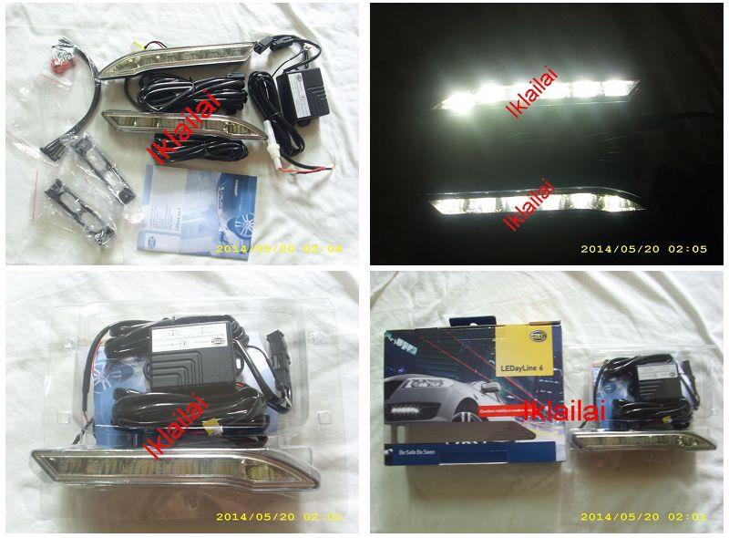 Genuine HELLA 6-LED Daytime Running Lights 12V DRL LED Complete Set