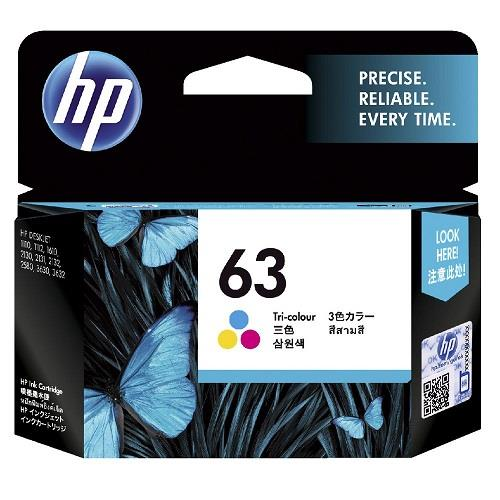 GENUINE HP 63 COLOR INK F6U61AA 1110 1112 1610 2131 2132 3630