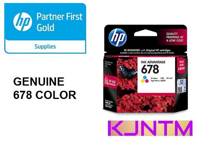 GENUINE HP 678 COLOR INK CARTRIDGE (CZ108AA)