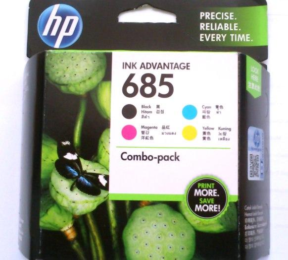 GENUINE HP 685 COMBO 4-in-1 SET (F6V35AA) INK CARTRIDGE
