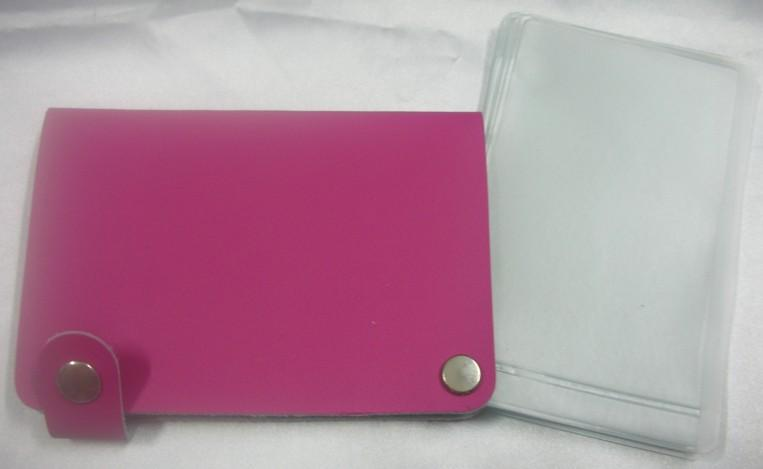 Genuine Leather Name Card Holder (Pink)~New