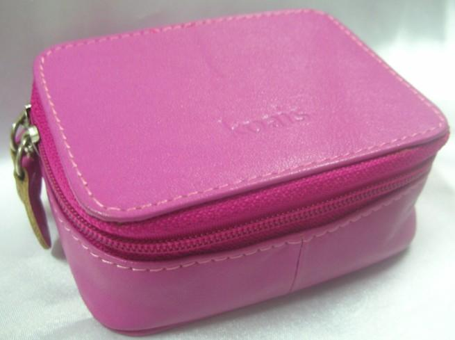 Genuine Leather Made Cosmetic Pouch (Purple)~ New