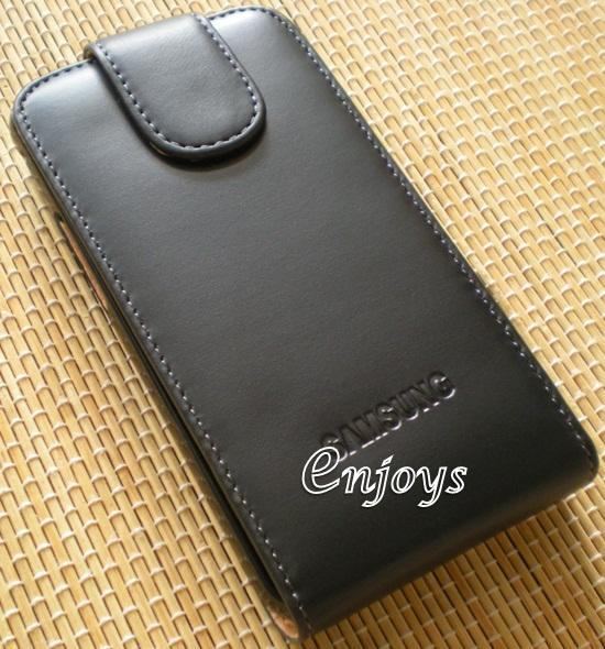 Genuine Leather Flip Pouch Cover Case Samsung I9100 Galaxy S II I9105