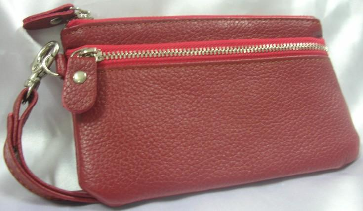 Genuine Leather Pouch (Red)~New