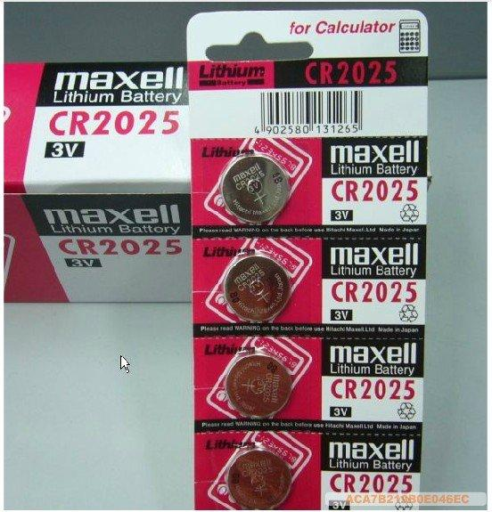 GENUINE MAXELL CR2025 LITHIUM BATTERY JAPAN 2PCS