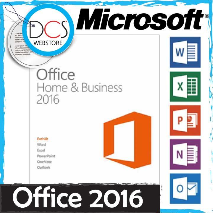 [GENUINE] Microsoft Office Home & Business 2016 32-BIT/X64 English DVD